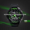 2014 skmei los últimos productos tiempo de doble zona analógico digital reloj de pulsera