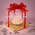 Venta al por mayor baratos de plástico transparente caja de torta, pvc/pet caja personalizada