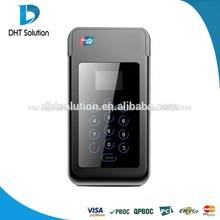 Os anroid/ios terminal de pago, bolsillo de la terminal de pago, de pago de mano, inalámbrico de crédito lector de tarjetas