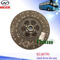 Yutong klq6796 higer bus auto piezas de cobre fricción 430mm disco de embrague sachs 16g42- 01130b