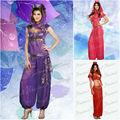 Muchachas indias púrpuras del vientre trajes de baile