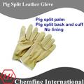 cerdo cuero partido guantes de protección