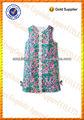 los niños niñas flor de largo sin mangas cortas de bordado hecho a mano lindo vestido de verano