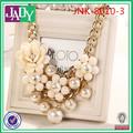 top venta de diseño de aleación de oro plateado de perlas collares de cuentas para joyería de la boda
