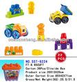 ladrillo de plástico los juguetes para los niños de bloques de construcción del juego para los niños