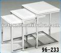 3 de anidación mesa, plegable mesa de café, antigua sala de mesa