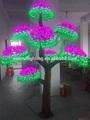 2015 quente nova árvore de natal artificial iluminação led cogumelo flor do tronco da árvore da lâmpada