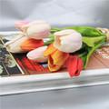 tulipán artificial, flores de seda, flores artificiales de alta calidad