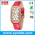 Hot selling watches 2014 stainless steel back quartz bangle watches