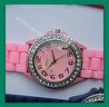 venta al por mayor reloj de diamantes de silicona reloj de diamantes