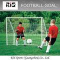 de metal de porterías de fútbol marco con la red y de destino de la pared