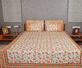 Nueva hoja de cama de algodón diseño floral impreso colchas/cubrecamas conjunto de tres piezas