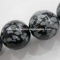 Spm160 obsidiana copo de nieve cuentas, ronda 4-16mm, 16- pulgadas por línea, venta al por mayor semi- piedra preciosa cuentas