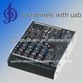 canal 6 mezclador de audio profesional de la consola con usb mp3