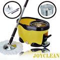JoyClean rotação esfregão de aço inoxidável girando carrinho com o pedal de alumínio JN-301