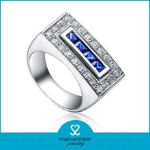 el más nuevo diseño natural azul zafiro anillo de venta al por mayor
