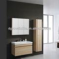 La melamina gabinetes de cuarto de baño con la luz de halógeno/gris claro armarios con estantes de madera