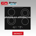 2014 nueva llegada de cerámica dedo toque de inducción 4 quemador de la estufa de gas