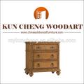 Material de madeira pintada à mão caixa mobiliário/grosso rústico de madeira recuperada mesa de cabeceira