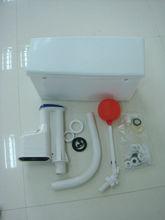 Pared colgar PVC bajo nivel de cisterna con válvula de flotador