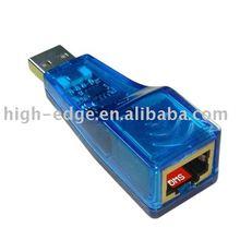 Usb al puerto lan adaptador a usb2.0 rj45 conector
