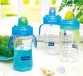 Crianças garrafa de água com palha, garrafa de água para as crianças