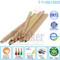 personalizados de madera color natural lápiz