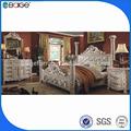 F-8008b nuevo diseño bouble imágenes de la cama de madera de la cama doble