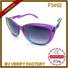 f3452 nuevo diseño de comprar a granel de china demi gafas de sol de moda con su propio logotipo