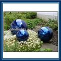 azul bola de acero inoxidable jardín esfera de acero