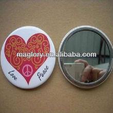 de promoción ronda hojalata imán con espejo