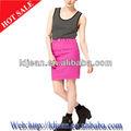 2013 diseñador de moda para mujer de mezclilla de color corta falda apretada( ldzq0135)