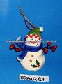 Navidad ornamento colgante del muñeco de nieve de cerámica