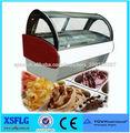 XSFLG B1 Mini congelador vidrio curvado para vitrinas