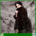 de alta calidad de diseño de moda ruso abrigo de visón