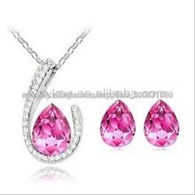 2014 Venta caliente cristalina de la manera de la joyería, la manera de China proveedor de cristal de la joyería