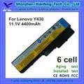 portátil de reemplazo bateria para lenovo ideapad y430 v430 l08s6d01