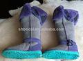 extra de altura botas de piel de oveja
