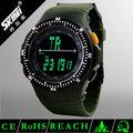 ejército verde dial grande japonés de última moda reloj con gran fábrica de segunda mano de precios de china proveedor