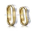 la joyería de moda los anillos de boda para los hombres de la boda de titanio anillo de compromiso