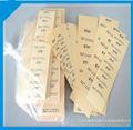 China a prueba de agua transparente etiqueta autoadhesiva/etiqueta de impresión