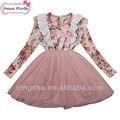 niños vestidos de niñas vestidos de flores para niña de cinco años de edad de las niñas de invierno vestidos formales