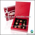 Rouge boîte d'emballage de chocolat de luxe