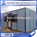 pequena casa modular do painel de sanduíche estrutura de aço casa container