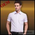 camisas de vestir de manga corta 100% algodón elegante estilo italiano para hombres de negocios