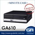 Caso Mini Computador Desktop Mini ITX para o Media Center-GA610