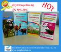 Oxitetraciclina HCL inyección 5% 10% 20% para el ganado ovino camel / inyección de la medicina veterinaria