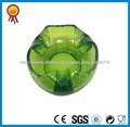 popular cenicero de cristal verde