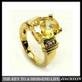 позолоченный кольцо с топазом