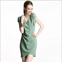2013 colección de verano v - cuello asymmetry lápiz con vestidos frente a envolver